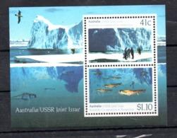 Australia 1990 Joint Issue USSR URSS Soviet Union BL11 MNH - Nuevos