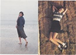 2 CARTES  CPM PUB KOOKAI PRINTEMPS/ETE  1992 FEMME - Moda