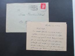 3. Reich 1944 Weihnachts Stempel Weihnachts Und Neujahrspost Frühzeitig Einliefern! Breslau - Wien Mit Inhalt! - Briefe U. Dokumente