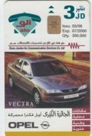 TELECARTE JORDANIE - OPEL VECTRA - AUTO  - VOITURE - AUTOMOBILE - CAR - - Coches
