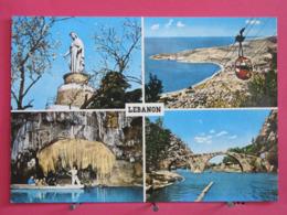 Visuel Pas Très Courant - Liban - Harissa - Bay Of Jounieh - Jeita Grotto - Nahr El Kalb - Scans Recto Verso - Liban
