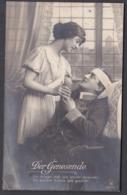 """Jg_ Ansichtskarte """"Der Genesende"""" - Gebraucht Used - 1915 Feldpost - Personajes"""