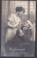 "Jg_ Ansichtskarte ""Der Genesende"" - Gebraucht Used - 1915 Feldpost - Characters"