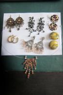 6 Paires Et 1 Collier - Earrings