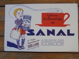 BUVARD - LES BONS CAFES DE SANAL - GRAND BUVARD - ETAT MOYEN - VOIR SCAN - Vloeipapier