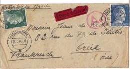 Lettre 1944 Pour Creil    Départ Magdeburg - Duitsland