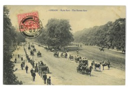 CPA ANGLETERRE LONDON LONDRES HYDE PARK THE ROTTEN ROW - Autres