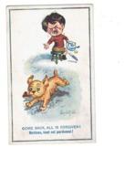 Illustration - Humour - Donald Mac Gill - Garçon En Pleurs Repas Couteau Chien Vole Steack Viande - - Mc Gill, Donald