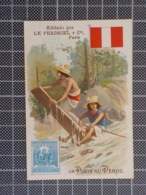 Cx 11) Chromo Pour Le Portugal LE PERDRIEL Médicament / Pharmacie 10,5x7,5cm LA POSTE AU PEROU - Advertising