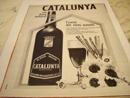 ANCIENNE PUBLICITE VIN DOUX APPELLATION ROUSSILLON LE CATALUNYA 1964 - Affiches