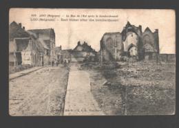 Lo-Reninge / Loo - La Rue De L'Est Après Le Bombardement - La Guerre 1914-16 - Lo-Reninge