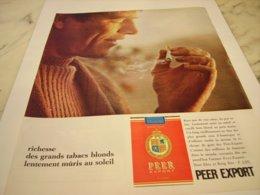 ANCIENNE PUBLICITE  NOUVEL AROME CIGARETTE PEER EXPORT 1964 - Afiches
