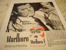 ANCIENNE PUBLICITE I LIKE TASTE   CIGARETTE MARLBORO  1964 - Afiches