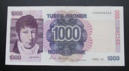 Norway 1000 Kroner 1989 XF - Norwegen