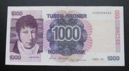 Norway 1000 Kroner 1989 XF - Norvège