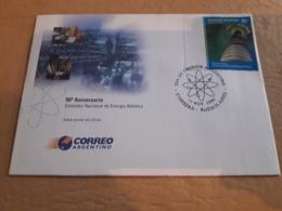Argentine Fdc 50 Ans De La Commission Nationale De L'énergie Atomique - Atomenergie