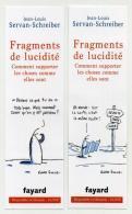 Marque-page - Fragments De Lucidité - Jean-Louis Servan-Schreiber - Fayard - Lesezeichen