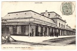 SAINT DIE (88) - L' Intérieur De La Gare - Ed. Ad. Wick, St Dié, N° 346r - Saint Die
