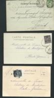 Lot De 19 Lettres, Cpa , Affranchissement , Tarifs , Oblitération à Voir  -   Raa 28 - Marcophilie (Lettres)