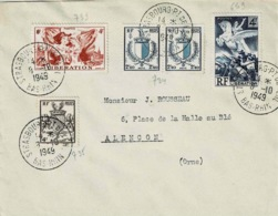 TP N ° 734 Et 735 +739 Et 649 Sur Enveloppe De  Strasbourg - Postmark Collection (Covers)
