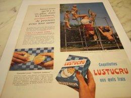 ANCIENNE PUBLICITE PATE ALIMENTAIRE OEUFS FRAIS LUSTUCRU 1960 - Afiches