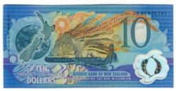 New Zealand 10 Dollars 2000 Black Serial Number UNC .PL. - Nuova Zelanda