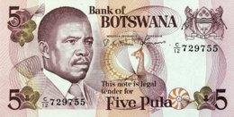 Botswana 5 Pula, P-8c (1982) - UNC - Sign.5! - Botswana