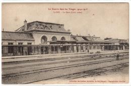 SAINT DIE (88) - La Guerre Dans Les Vosges 1914-1915 - La Gare (Côté Voies) - Ed. Ateliers Bouteiller, St Dié - Saint Die