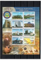 Uzbekistan 2009 .Tashkent 2200th Ann.(Architecture,Silk Road). M/S Of 8v .Michel # 819-26 - Ouzbékistan