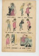 """Illustrateur XAVIER SAGER - HUMOUR - Jolie Carte Fantaisie Femme Avec """"faux Nichons, Ratelier, Faux Mollets, Faux Q... - Sager, Xavier"""