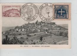 PR7171/ TP 759 S/Carte Maximum 8° Centenaire 2° Croisade Vézeley 1946 + Vignette & C.Croisade De La Paix - Maximum Cards