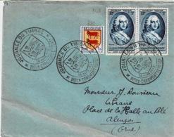 TP N ° 948 En 2 Ex Et 901 Sur Enveloppe Journée Du Timbre De Vieux Charmont - Marcophilie (Lettres)