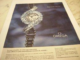 ANCIENNE PUBLICITE POUR TOUTE UNE VIE MONTRE OMEGA 1959 - Gioielli & Orologeria