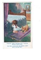 Illustration - Humour - Donald Mac Gill - FILLETTE Prière CHIEN COIFFEUSE BROSSE à CHEVEUX - Mc Gill, Donald