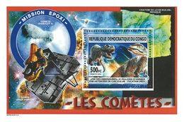CONGO EX ZAIRE Bloc Comètes Et Dinosaures 13 Neuf ** MNH - République Démocratique Du Congo (1997 -...)