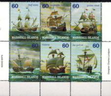 MVS-BK1-716 MINT ¤ MARSHALL 2000 6w In Serie ¤ VOILIERS - ZEILSCHEPEN - BOATS AND SHIPS AROUND THE WORLD - Maritiem