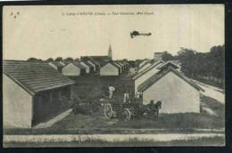 18  CAMP D   AVORD  ...vue Générale Coté Ouest Aéroplane Survolant Le Camp - Avord