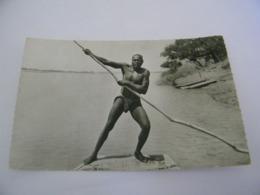 C.P.A.- Afrique - Cameroun - Douala - Piroguier- 1957 - SUP (CT 37) - Cameroun