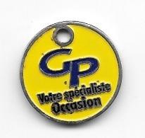 Jeton De Caddie  Ville, G P  Votre  Spécialiste  Occasion  Verso  Garage  DE  LA  PISCINE, LIEVIN ( 62 )  Recto  Verso - Jetons De Caddies