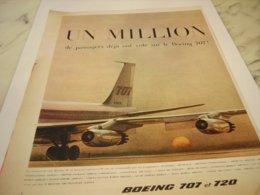 ANCIENNE PUBLICITE AVION BOEING 707  ET 720 1959 - Advertisements
