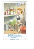 Cpa Illustration Humour - DONALD MAC GILL - Garçon JAM Attaquant Les Réserves Pot Confiture Bouteille Pomme De Terre - Mc Gill, Donald