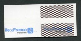 """Ticket - Essai De Marquage De Distributeur De Tickets De Métro RATP Et Train SNCF (Ile-de-France - Mobilités"""" - Chemins De Fer"""