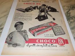 ANCIENNE PUBLICITE LE GOUTER CHOCO BN 1959 - Affiches