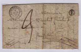 BAINS En VOSGES (les Bains) 6 Février 1847 (Vosges),TàD Type 15, Pour Frémifontaine, Taxe Manuscrite 3 Décimes E = Gruey - 1801-1848: Précurseurs XIX