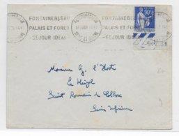 1939 - PAIX YT 368 Avec COIN DATE SEUL Sur LETTRE De FONTAINEBLEAU (SEINE ET MARNE) => ST ROMAIN DE COLBOSC - 1921-1960: Modern Period