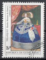 "Guinea Bissau 1984 Sc. 558  ""Ritratto Di Maria Anna D'Austria "" Quadro Dipinto D.R. Velazquez  Barocco Paintings CTO - Guinea-Bissau"