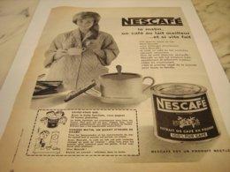ANCIENNE PUBLICITE LE MATIN CAFE NESCAFE 1959 - Affiches