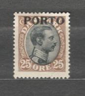 Denmark - 1921 Mino 6  PORTO MLH* - Port Dû (Taxe)