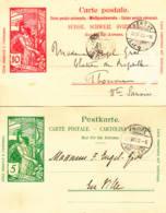 SUISSE - 1900 - Lot De 2 Entiers Postaux - UPU - Entiers Postaux