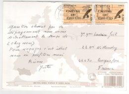 2 Beaux Timbres   Sur Cp , Carte , Postcard Du 15/05/2008 Pour La France - 2001-10 Storia Postale